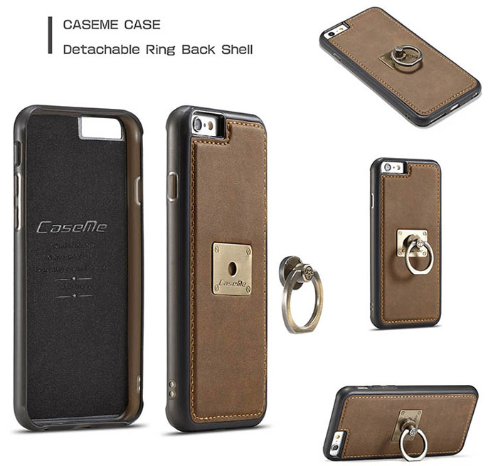 CaseMe iPhone 6S/6 Detachable Ring Stand Magnetic Back Cover