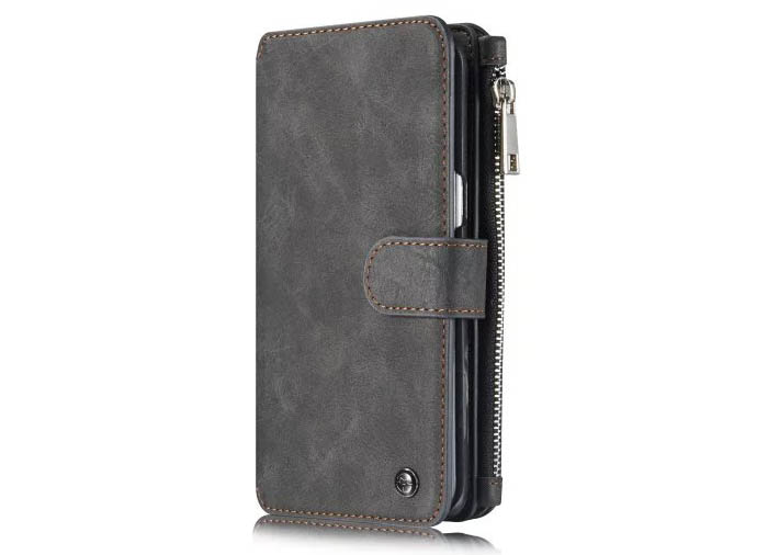 CaseMe Vintage Multifunctional Wallet Genuine Leather Case For Samsung Galaxy S6 Edge Plus