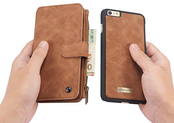 CaseMe 007 iPhone 6S/6 Retro Flannelette Leather Detachable 2 in 1 Wallet Case