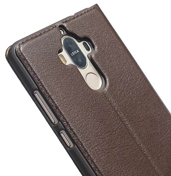 Dual Window View HuaWei Mate 9 Ultra Thin Stand Genuine Leather Case