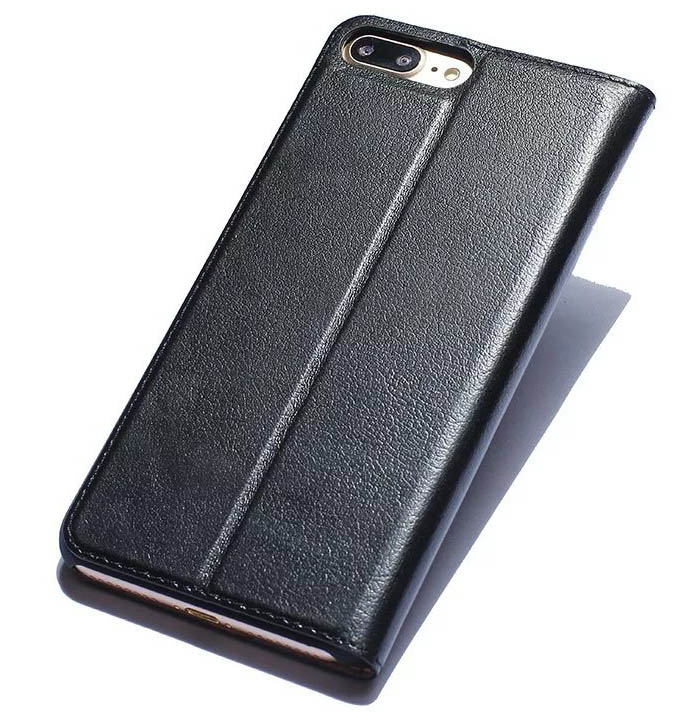 Dual Window View iPhone 7 Plus Ultra Thin Stand Genuine Leather Case