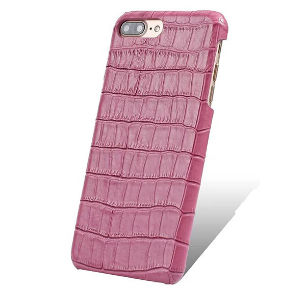 Embossed Crocodile iPhone 7 Plus Genuine Leather Back Cover Case