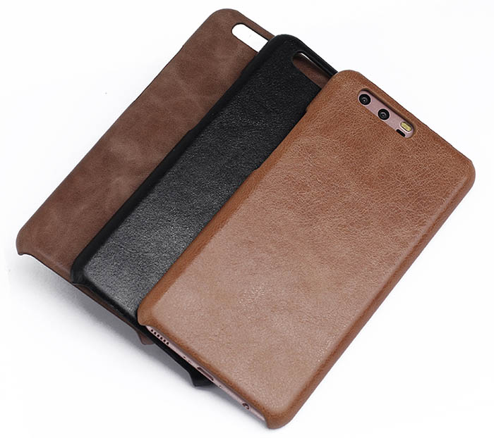 buy online 06863 53cdf Genuine Leather Matte Huawei P10 Plus Hard Back Cover Case