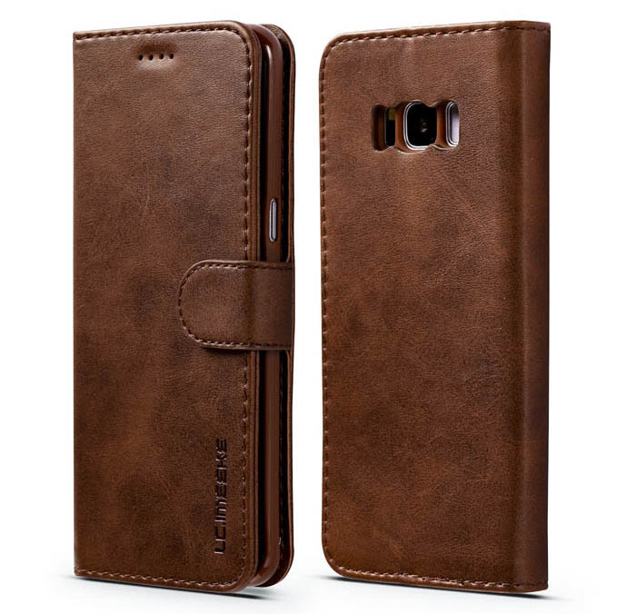 LC.IMEEKE Samsung Galaxy S8 Wallet Stand PU Leather Case