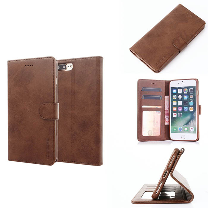 LC.IMEEKE iPhone 7 Plus Wallet Stand PU Leather Case