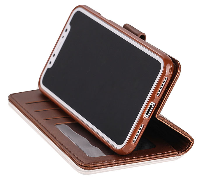 LC.IMEEKE iPhone X Wallet Stand Leather Case