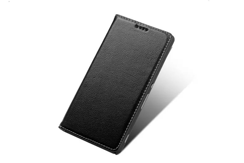 Litchi Pattern Genuine Leather Casual Wallet Stand Case For Sony Xperia Z5