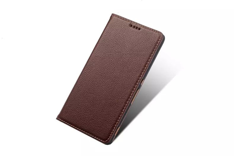 Litchi Pattern Genuine Leather Casual Wallet Stand Case For Sony Xperia Z5 Premium
