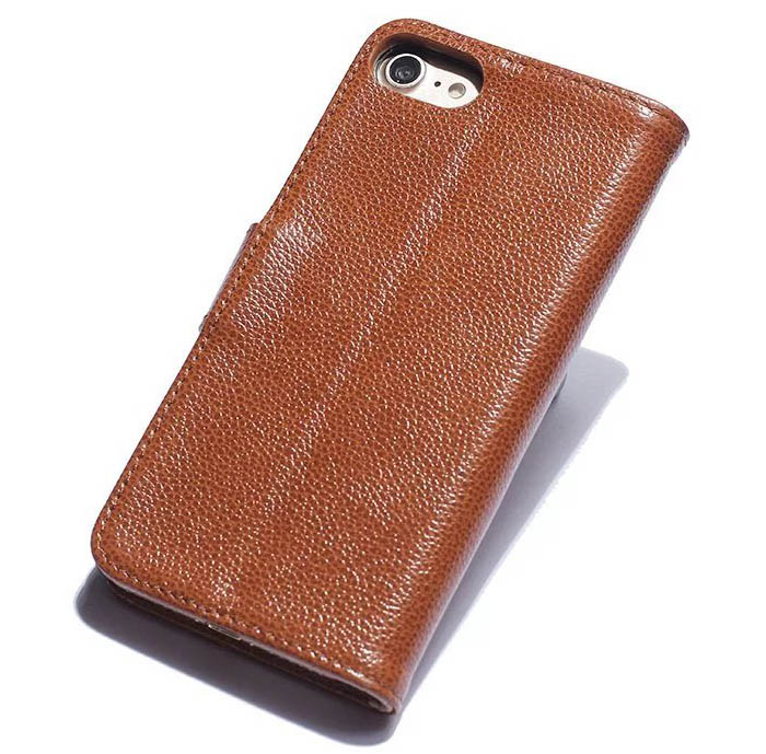 Real genuine cowhide leather iphone 7 litchi pattern wallet stand case colourmoves
