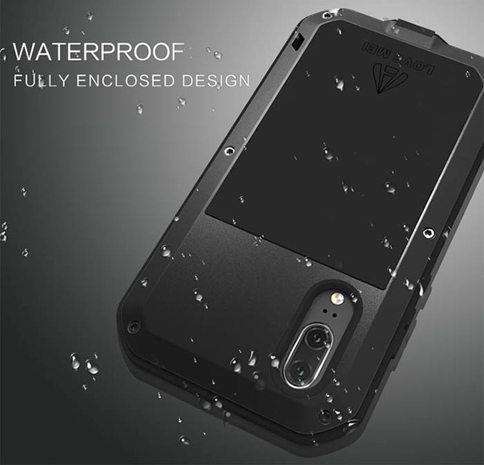 pretty nice d9edd 95a07 Love Mei Powerful Huawei P20 Pro Protective Case Black