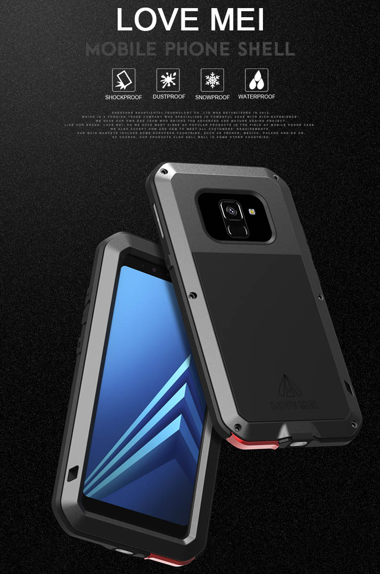 Love Mei Powerful Samsung Galaxy A8 Plus 2018 Protective Case