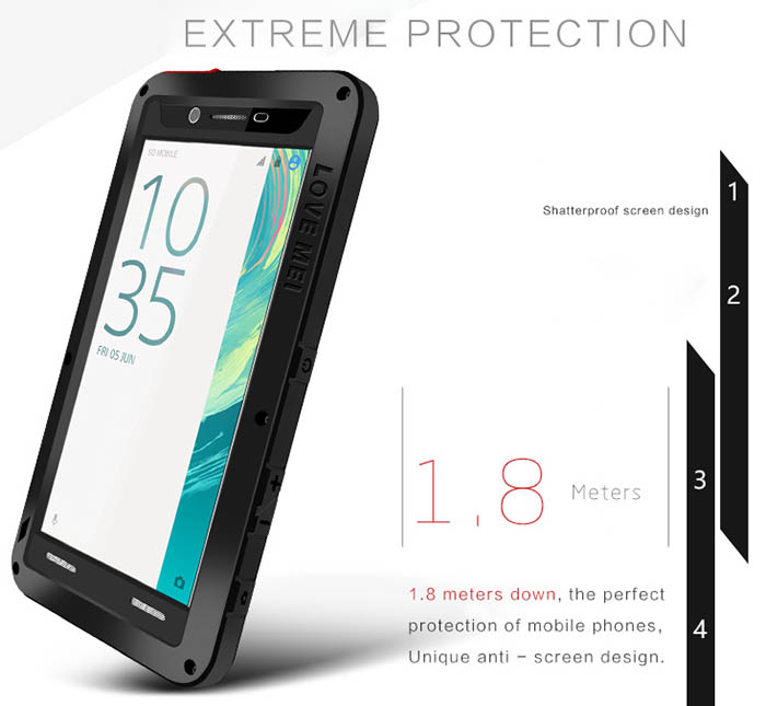 Love Mei Powerful Sony Xperia X Protective Case