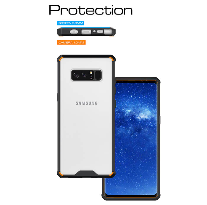 Samsung Galaxy Note 8 Transparent Ultra Thin Acrylic Shockproof TPU Protective Case