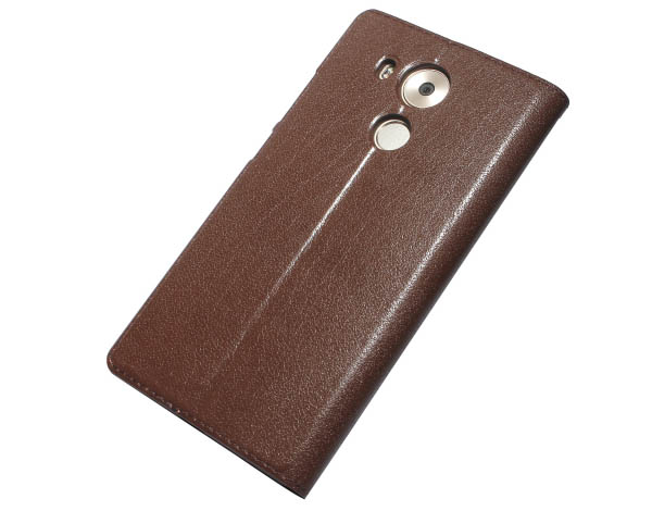 Tree Pattern Genuine Leather With Window Stand Case For HuaWei Mate 8