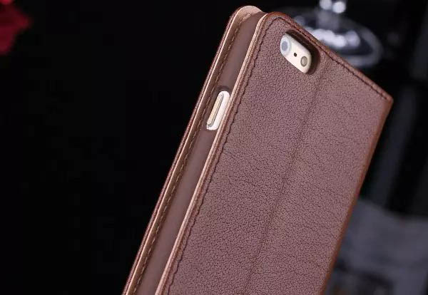 Tree Pattern Genuine Leather Double Windows Stand Case For iPhone 6S/6