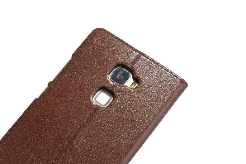 Tree Pattern Genuine Leather With Window Stand Case For HuaWei Mate S