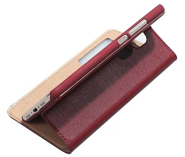 Window View HuaWei Maimang 5 Ultra Thin Stand Genuine Leather Case