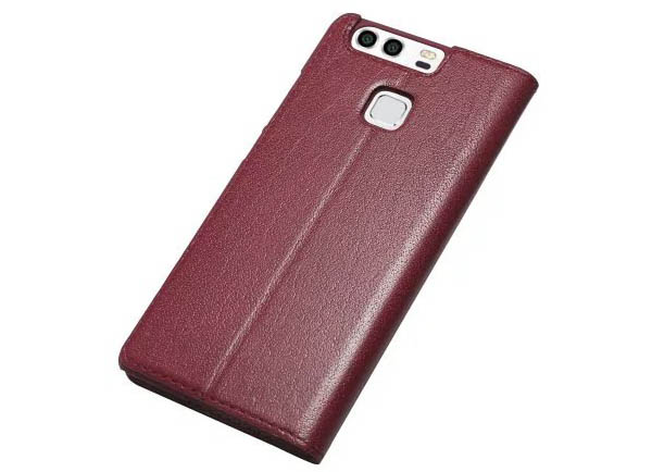 Window View HuaWei P9 Ultra Thin Stand Genuine Leather Case