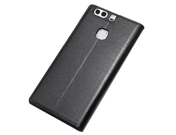 Window View HuaWei P9 Plus Ultra Thin Stand Genuine Leather Case