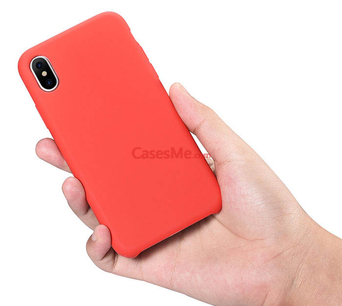 brand new 162ec 1d189 XOOMZ iPhone X Liquid Silicone Soft Back Cover Case Red