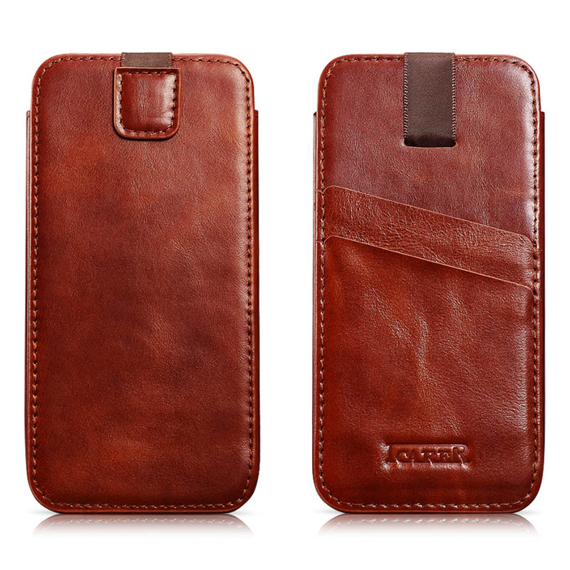 ICARER Vintage Straight Leather Case For iPhone 6 Plus/ 6S Plus