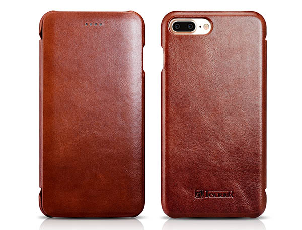 iCarer iPhone 7 Plus Curved Edge Vintage Genuine Leather Case