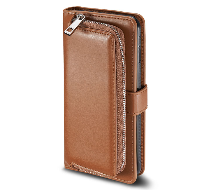 iPhone 6S/6 Detachable Magnetic Zipper Pocket Case