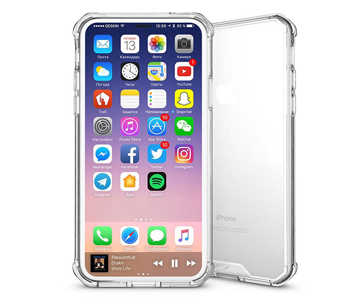 Iphone X Transparent Acrylic Shockproof Tpu Protective Case